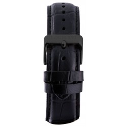 Leather strap Black/Black (20 mm/22 mm/24 mm)