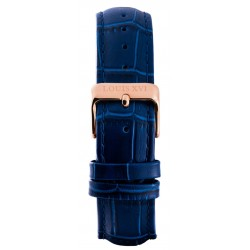 Leather strap Blue/Rose gold (20 mm/22 mm/24 mm)