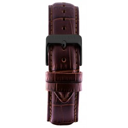 Leather strap Brown/Black (20 mm/22 mm/24 mm)
