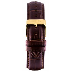 Leather strap Brown/Gold (20 mm/22 mm/24 mm)