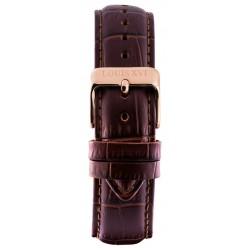 Leather strap 20 mm Brown/Rose gold