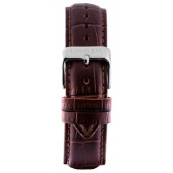 Leather strap Brown/Silver (20 mm/22 mm/24 mm)