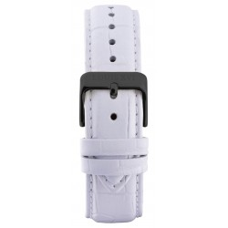 Leather strap White/Black (20 mm/22 mm/24 mm)