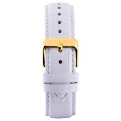 Leather strap White/Gold (20 mm/22 mm /24 mm)