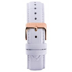Leather strap White/Rose gold (20 mm/22 mm/24 mm)