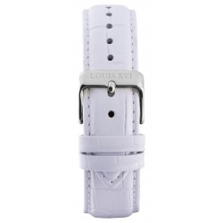 Leather strap White/Silver (20 mm/22 mm /24 mm)