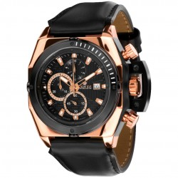 DE CUSTINE l'or rose Swiss Made Chrono