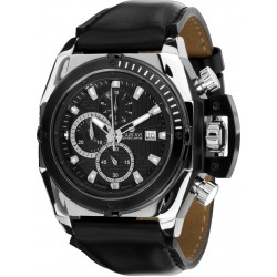 DE CUSTINE l'argent noir Swiss Made Chrono