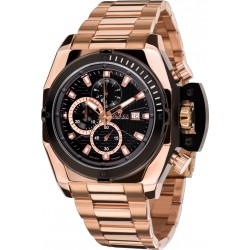 DE CUSTINE l'acier l'or rose Swiss Made Chrono