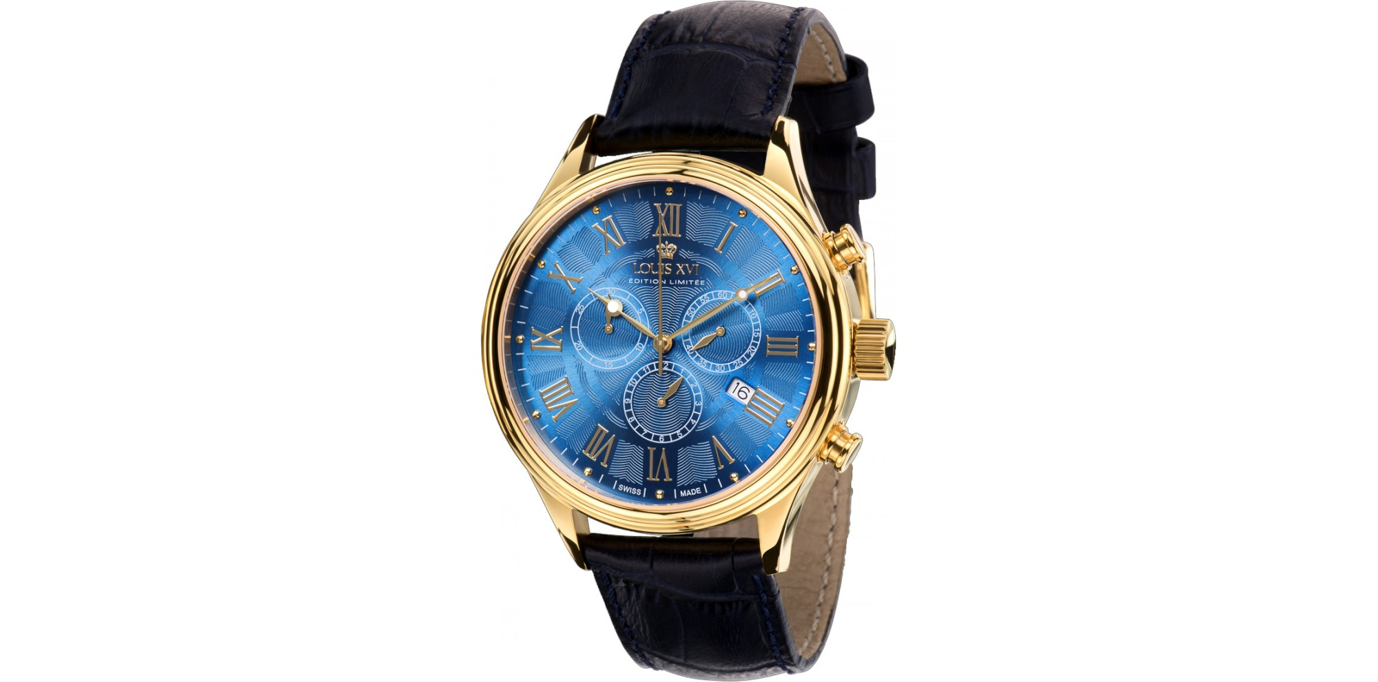 DANTON l'or bleu Chronographe Swiss Made