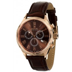DANTON l'or rosé brun Chronographe Swiss Made
