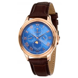 LA LUNE l'or rose bleu saphir Swiss Made