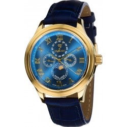 LA LUNE le Grand l'or bleu saphir Swiss Made