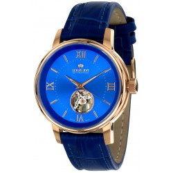 LE LOUVRE l'or rose bleu Swiss Made automatic