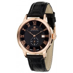 LOUIS CHARLES l'or rose noir saphir Swiss Made