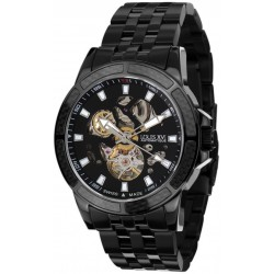 MAJESTÉ l'acier noir noir skeleton Swiss Made automatique
